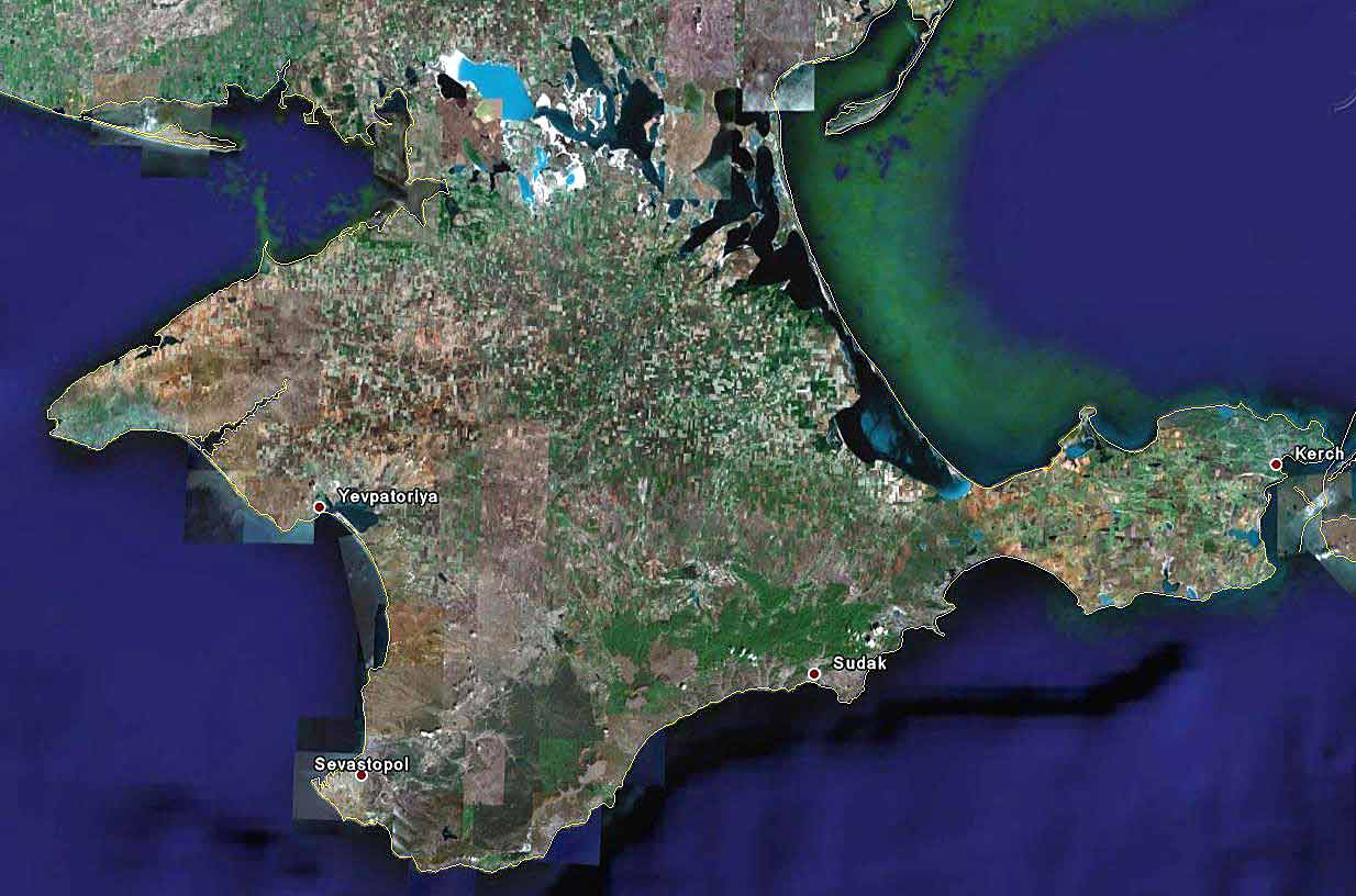 Крыма гурзуф и крым вид со спутника